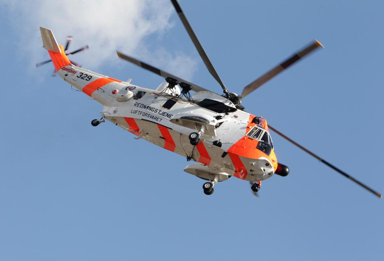 Sea King redningshelikopter. Illustrasjonsfoto: Morten Holm / NTB scanpix.