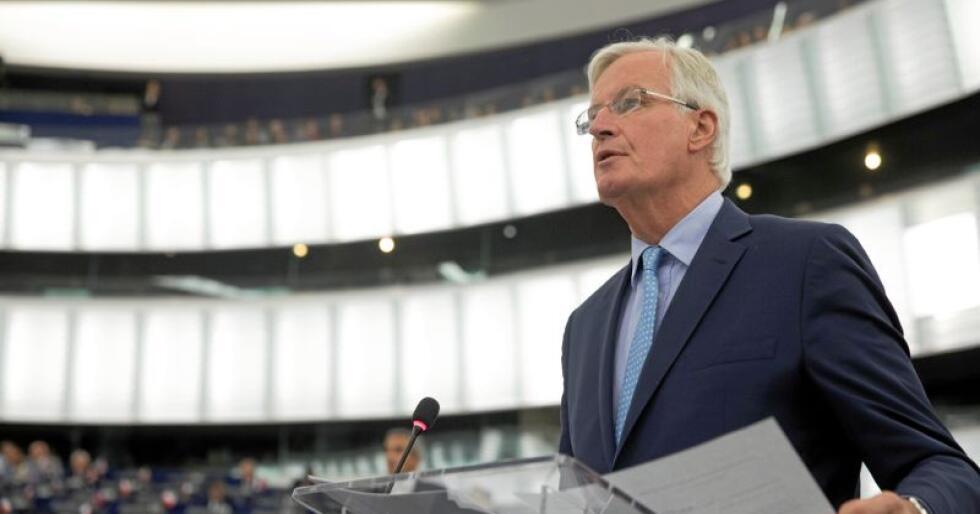 EUs brexitforhandler Michel Barnier tok fredag imot britenes brexitminister til politiske samtaler i Brussel. Arkivfoto: Jean-François Badias / AP / NTB scanpix