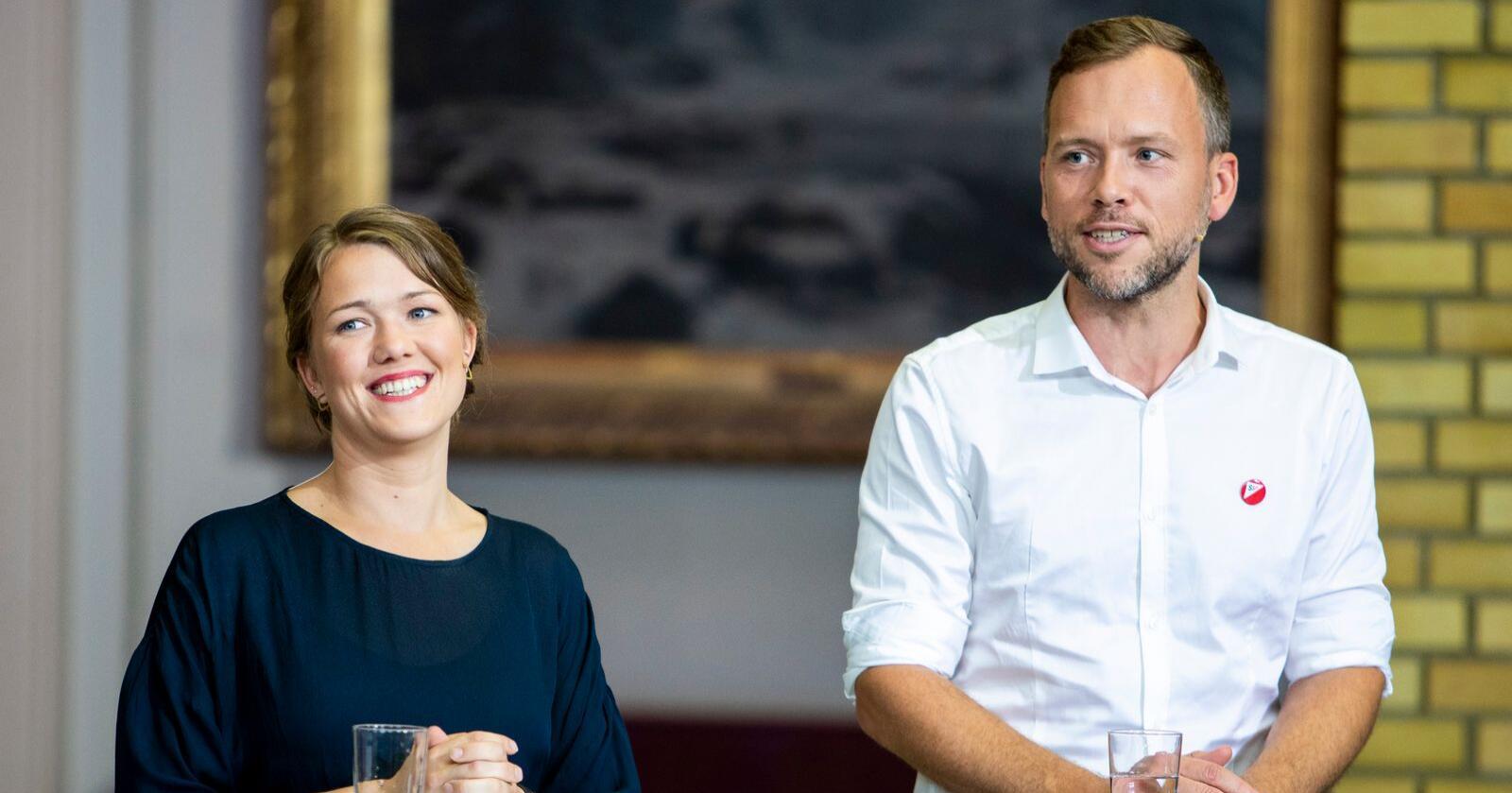 Både Une Bastholms MDG og Audun Lysbakkens SV tiltrekker seg mange unge velgere. Foto: Tore Meek / NTB scanpix
