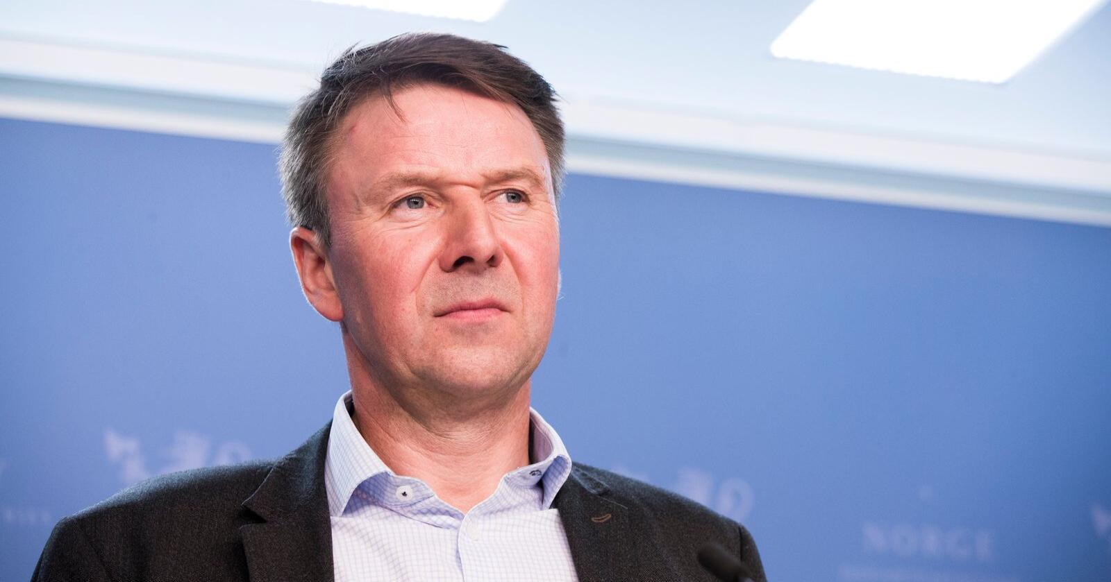 Leder i Norges Bondelag, Lars Petter Bartnes, mener man ikke må kutte i norsk kjøttproduksjon for å nå klimamålene. Foto: Terje Pedersen / NTB scanpix
