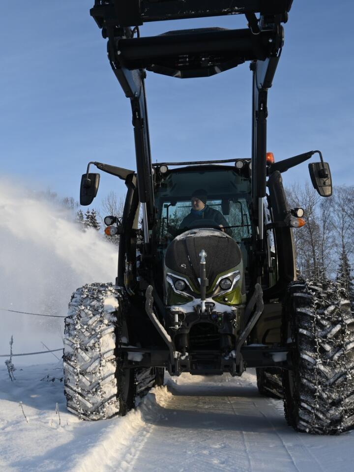 Brøyter: Valtra G brøyter seg veg inn i det norske traktormarkedet.