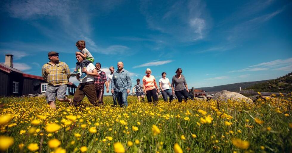 Åtte bønder fra Hol kommune har skapt et fellesskap og en ny samarbeidsform der ysting og stølsdrift står i sentrum. Foto: Bård Gundersen