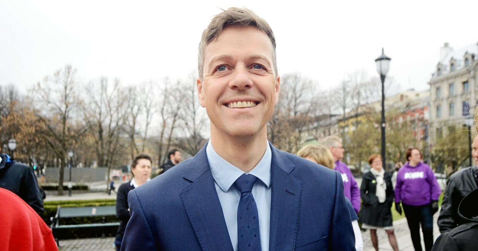 Samferdselsminister Knut Arild Hareide (KrF). Foto: Mariann Tvete
