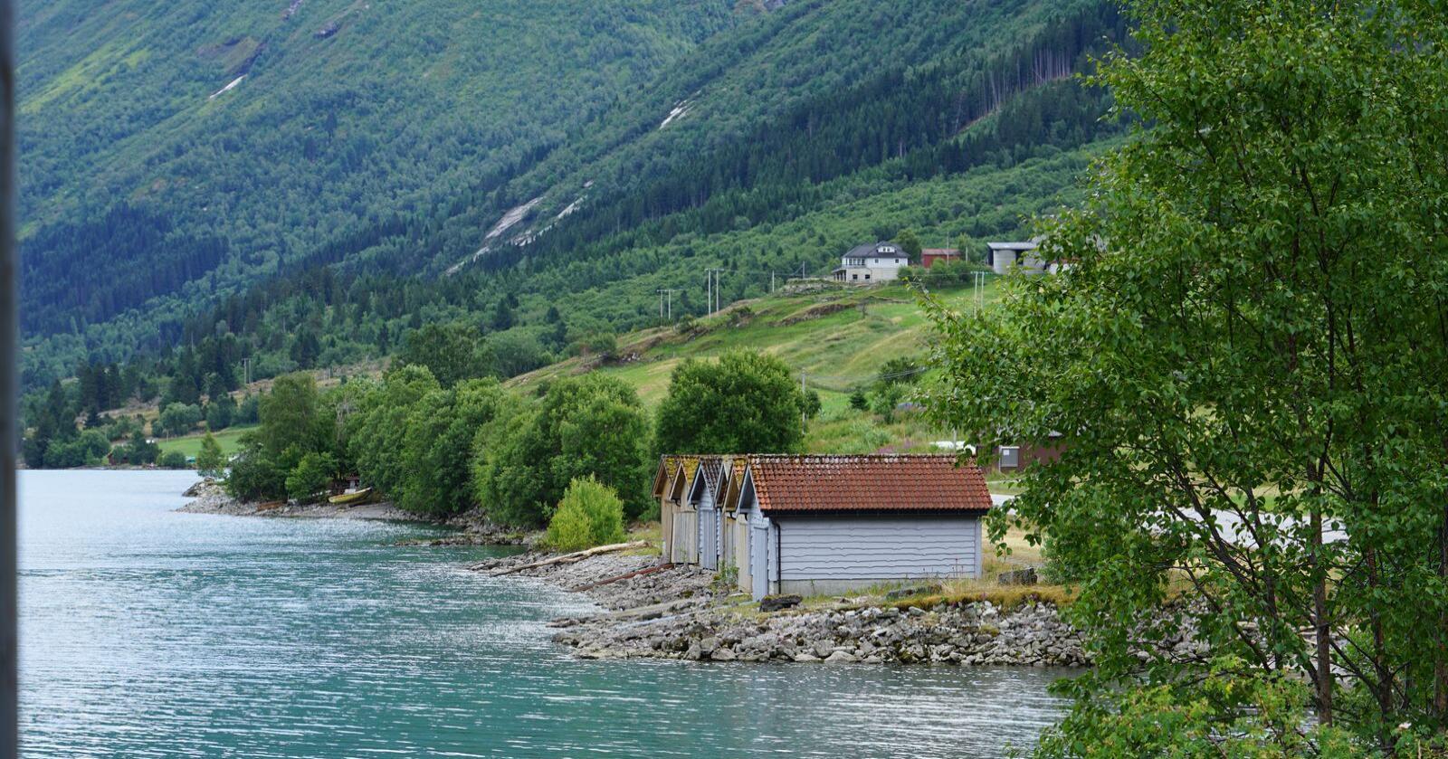 Den siste viking: Mange grendelandskap holdes i hevd av én bonde. Foto: Janne Grete Aspen
