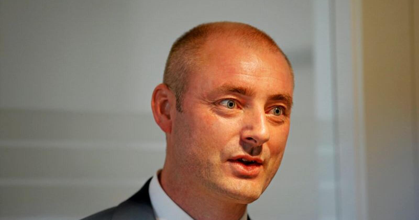 Robert Eriksson, administrerende direktør i Sjømatbedriftene. Foto: Cornelius Poppe / NTB scanpix