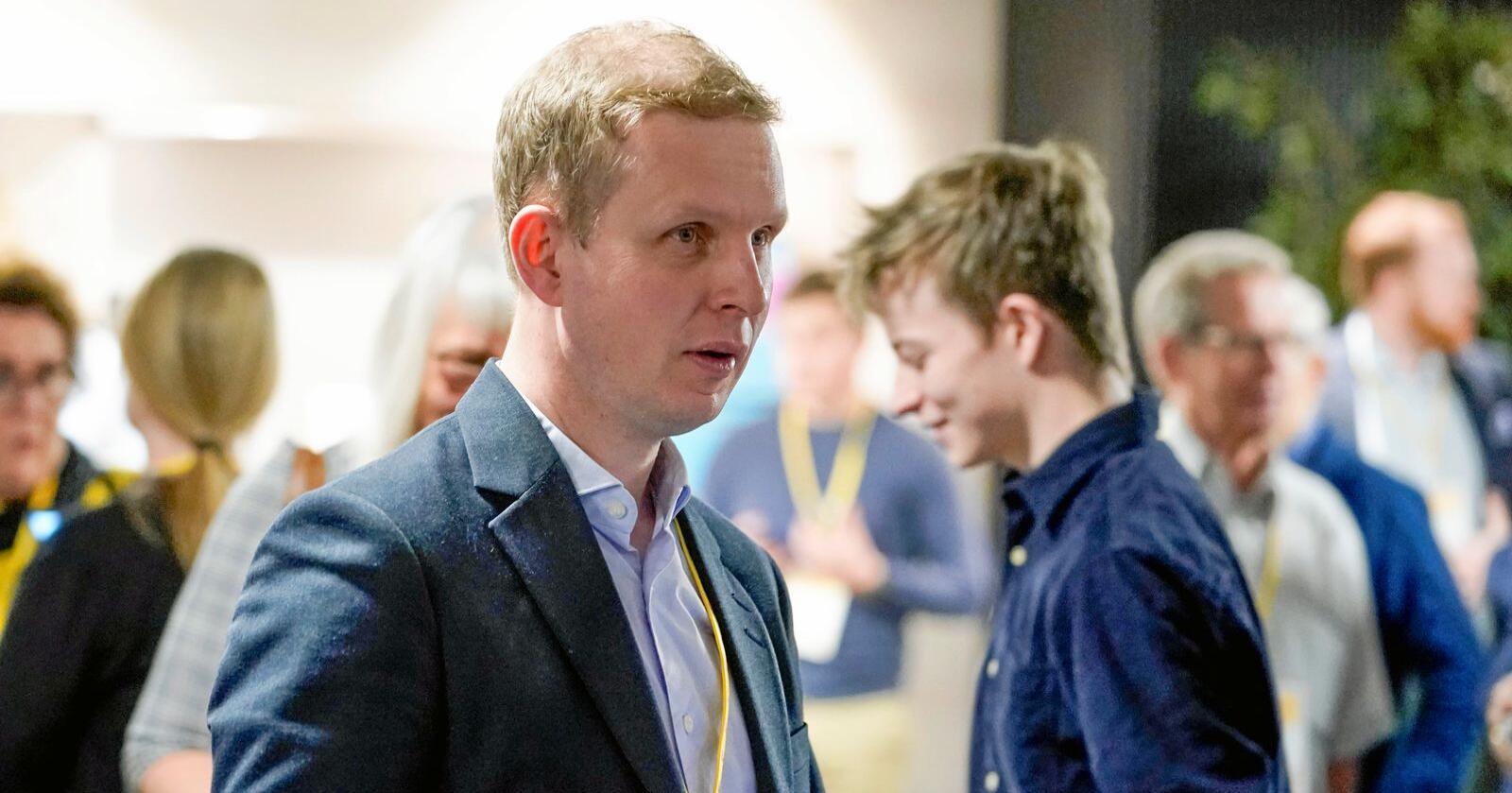 Sentralstyremedlem Erik Lunde leder arbeidet med å lage KrFs nye partiprogram. Han har spesielt trukket fram klima som et område der de må utvikle ny politikk. Foto: Fredrik Hagen / NTB scanpix
