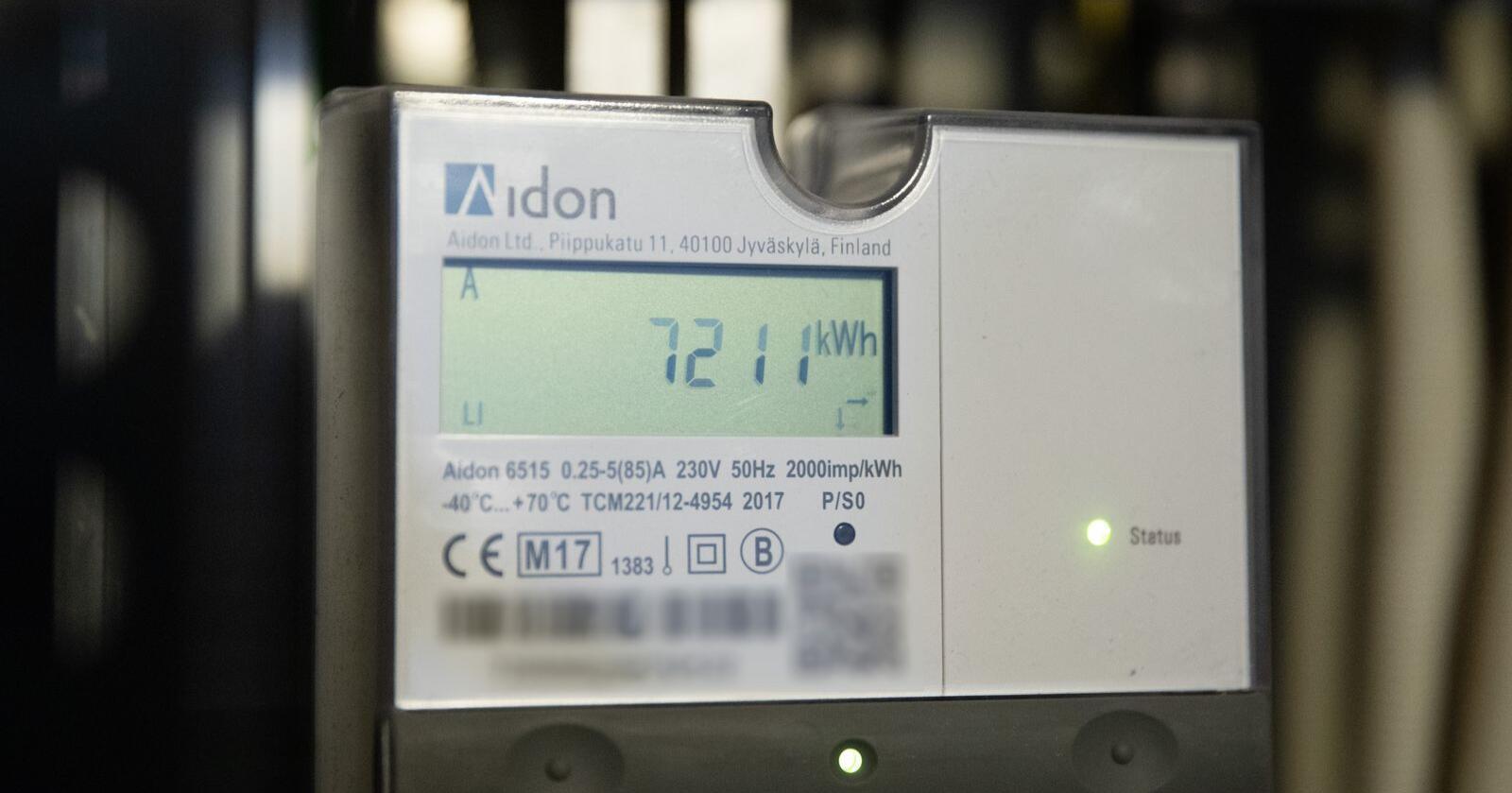 Oslo  20180725. Automatisk strømmåler registrerer og sender informasjon om strømforbruket direkte til strømselskapet. Foto: Audun Braastad / NTB scanpix